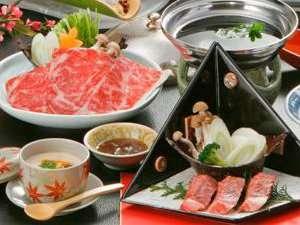≪鳥取県産・黒毛和牛≫しゃぶしゃぶ・ミニステーキ・鳥取和牛筋コラーゲン鍋…心行くまでどうぞ♪