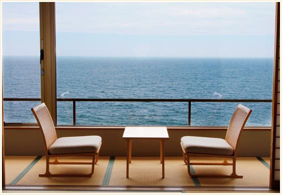 海側客室から見える海の景色
