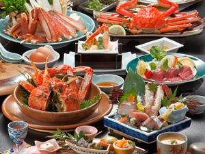 ◆冬P◆冬の当館一番人気◆活松葉蟹を半丁使用◆菊乃家定番のかに三昧会席『基本』初めて活蟹を食べてみたい方に