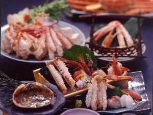 ◆冬P◆活松葉蟹を2枚使用◆当館最上級の活松葉蟹『厳選』会席◆とっとり松葉ガニを堪能したい方へ