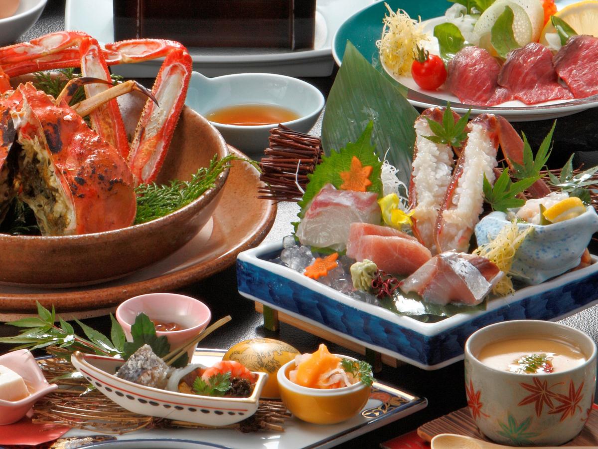 ◆冬P◆活松葉蟹を半丁使用◆活かに控え目会席◆活蟹を食べてみたい方に